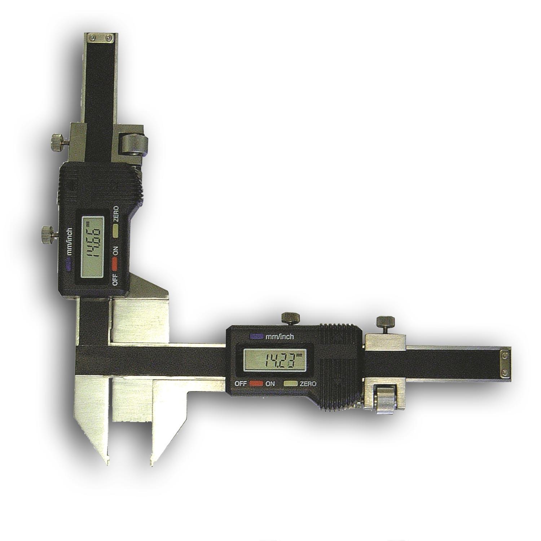 Digitaler Zahnweitenmessschieber mit 2 Standard Modulen.