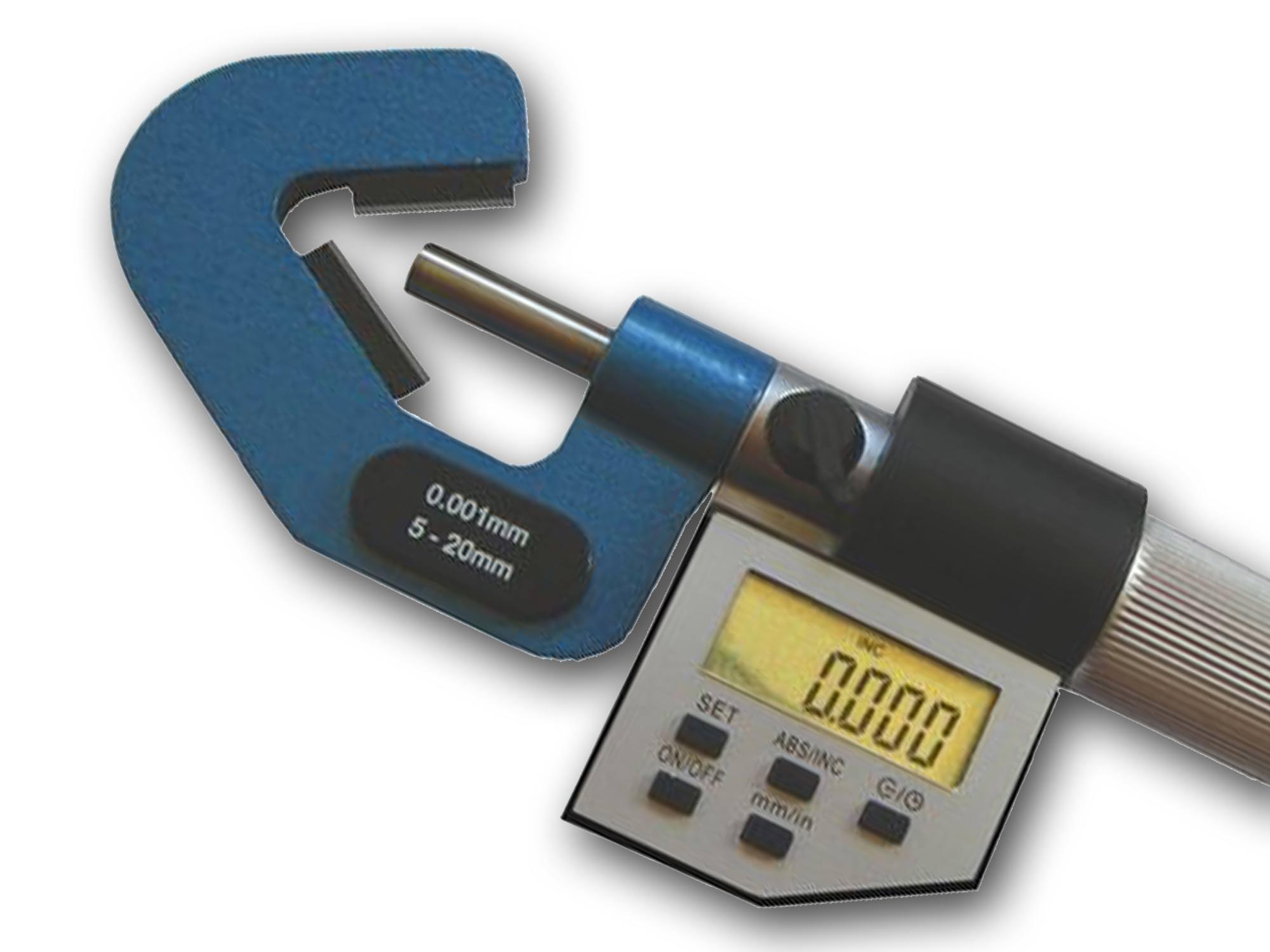Sondermikrometer und Spezialmikrometer bis 200mm.