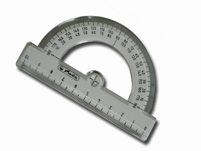 4 St/ück SourceTon Winkelmesser transparent 180 Grad 10,2 cm und 15,2 cm Kunststoff