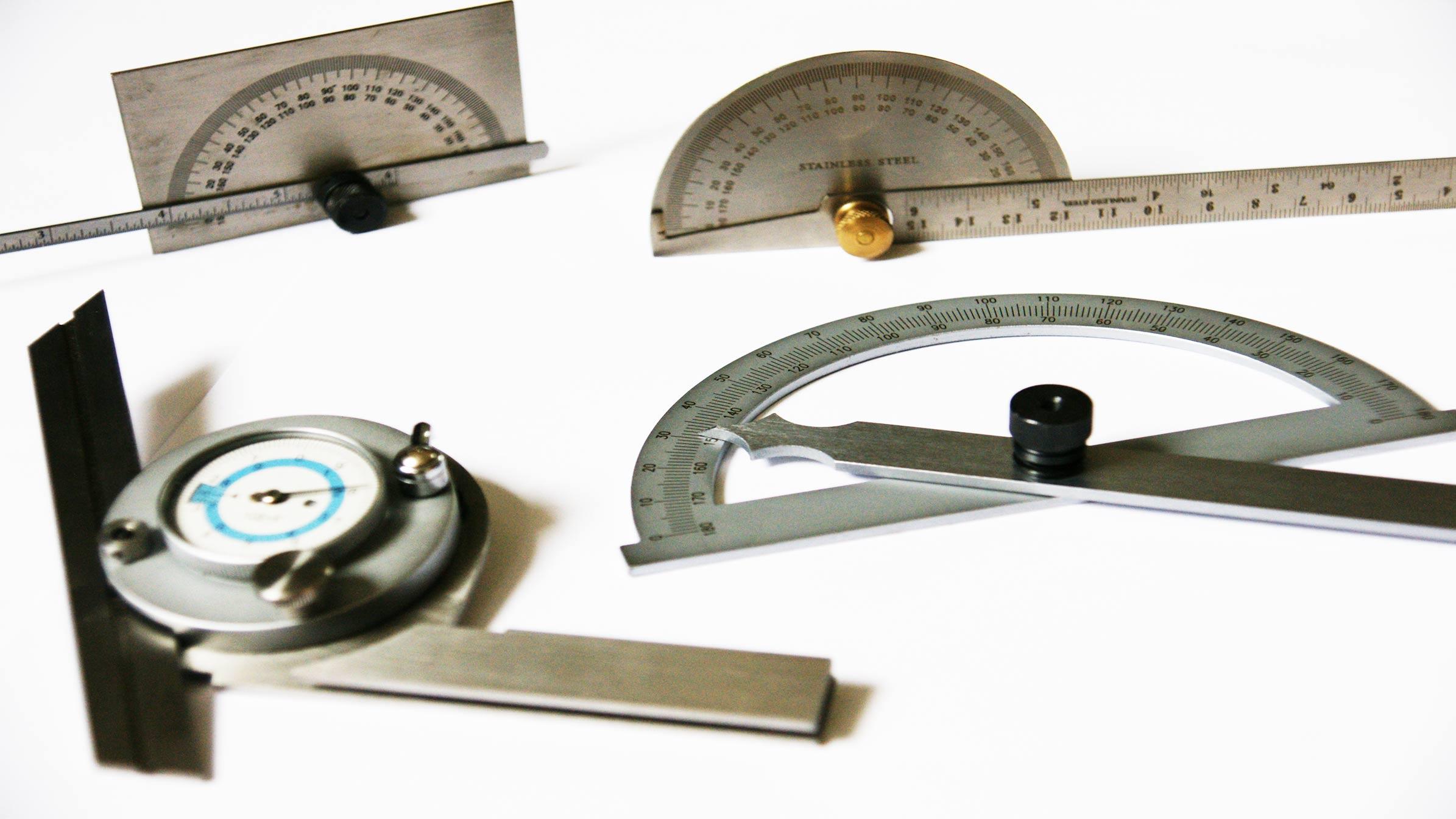 Winkelmesser, Gradmesser und Neugungsmesser, Aufbau und Informationen.